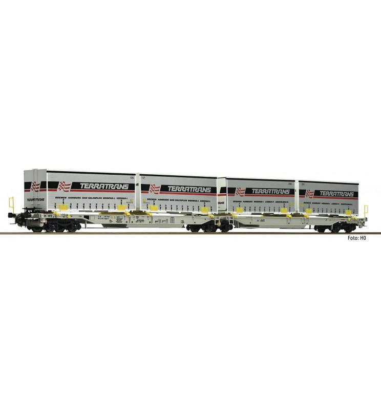Fleischmann 825011 - Articulated double pocket wagon T2000 AAE
