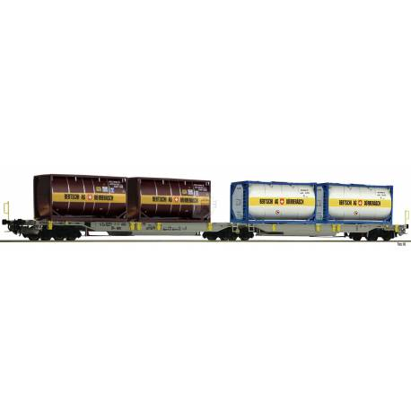 Fleischmann 825007 - Articulated double pocket wagon T2000 AAE