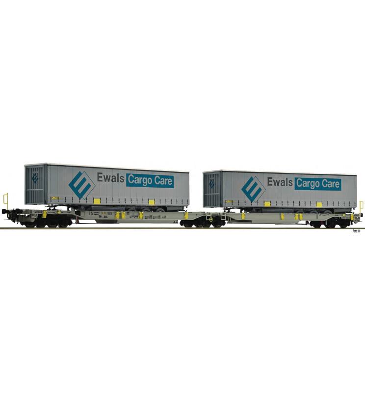 Fleischmann 825008 - Articulated double pocket wagon T2000 AAE