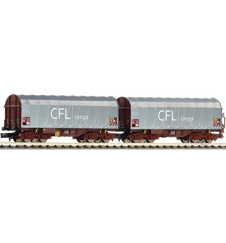 Fleischmann 837917 - 2 piece set sliding tarpaulin wagons type Shimms CFL