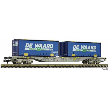 Fleischmann 845373 - Container carrier wagon type Sgns AAE