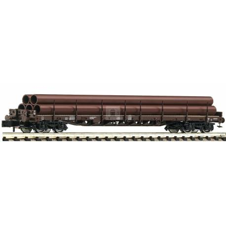 Fleischmann 826808 - Stanchion wagon type Rs that carries tubes DSB