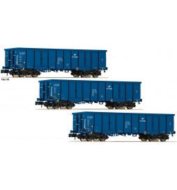 Fleischmann 852329 - Zestaw 3 wagonów Eaos PKP Cargo, skala N