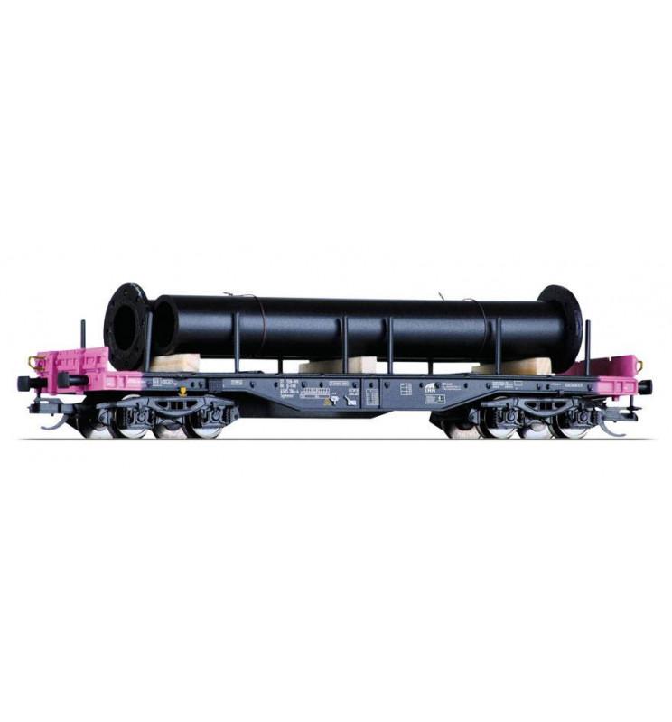 Tillig TT 15151 - Wagon platforma z ładunkiem rur, skala TT