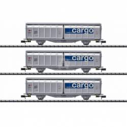 Trix 15282 - Sliding Wall Boxcar Set