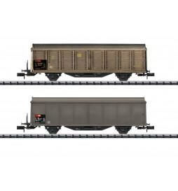Trix 15307 - Type Hbis-v Sliding Wall Boxcar Set