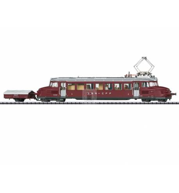 Trix 22867 - Szynobus elektryczny RCe 2/4 Roter Pfeil z przyczepką, SBB, DCC z dźwiękiem i oświetleniem