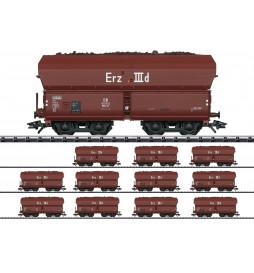 Trix 24129 - Zestaw 12szt wagonów do rudy żelaza, Set IIId DB