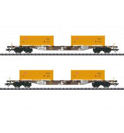 Trix 24136 - Zestaw wagonów kontener. AAE/DB