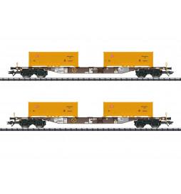 Trix 24138 - Zestaw wagonów kontenerowych AAE/DB