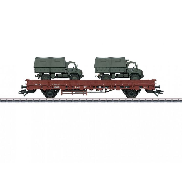 Marklin 046936 - Wagon niskoburtowy Kbs 443 z Unimog DB