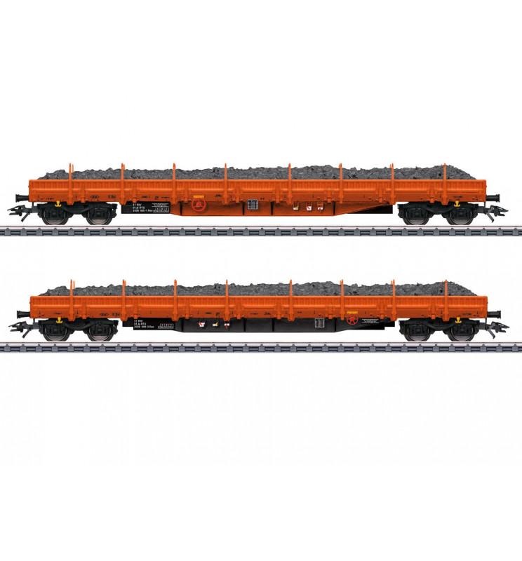 Marklin 047099 - Ballast Transport Low Side Car Set