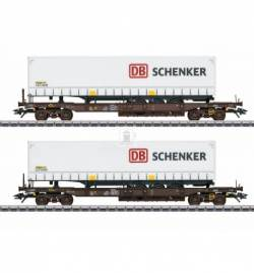 Marklin 047110 - DB Schenker Deep Well Flat Car Set