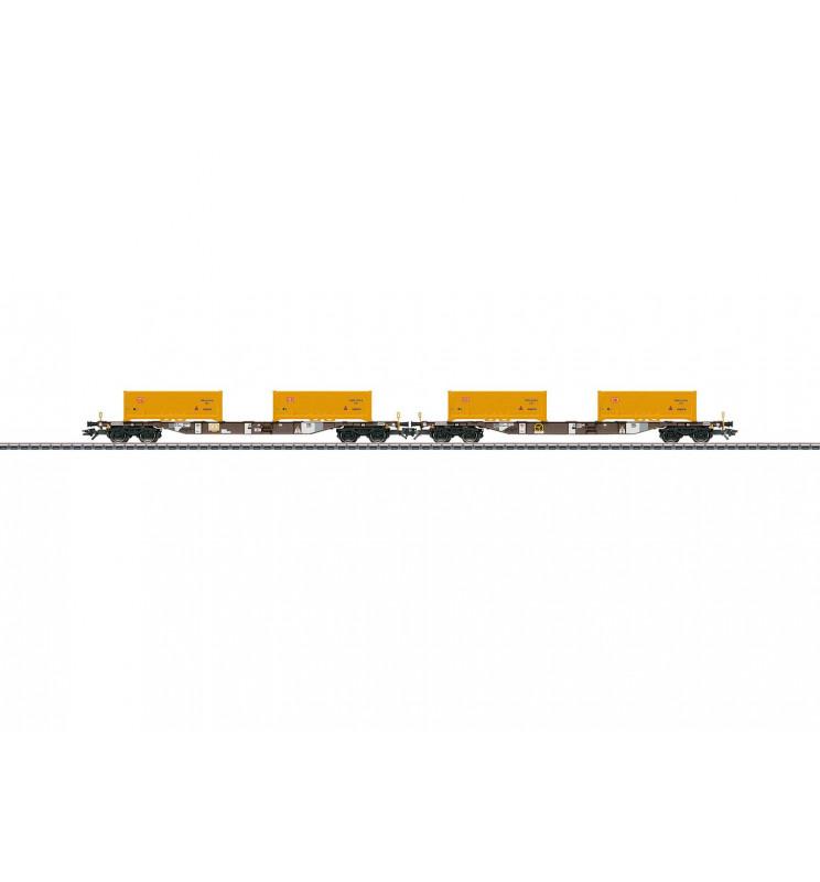 Marklin 047130 - Soil Excavation Stuttgart 21 Container Transport Car Set