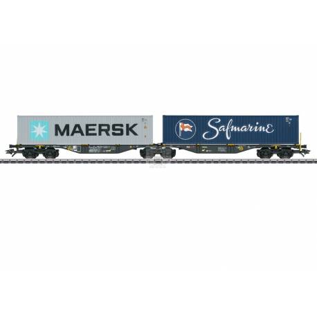Marklin 047806 - Type Sggrss Double Container Transport Car
