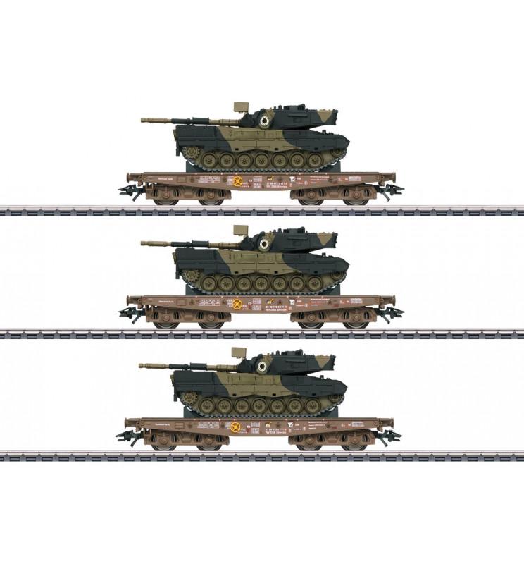 Marklin 048795 - Type Slmmps Heavy-Duty Flat Car Set