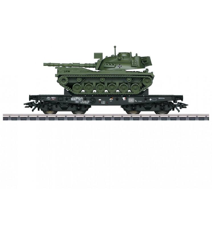 Marklin 048796 - Wagon platforma Rlmmps z czołgirm M48 D