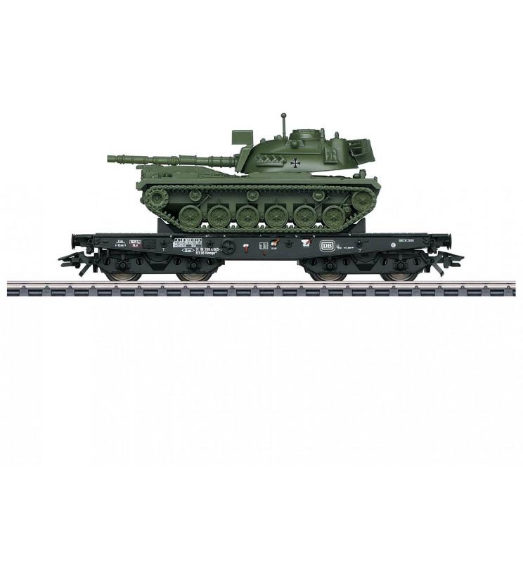 Marklin 048798 - Wagon platforma Rlmmps z czołgirm M48 D