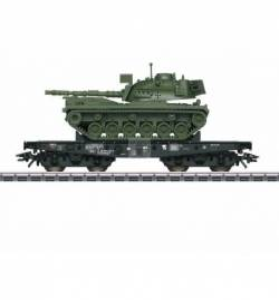 Marklin 048799 - Wagon platforma Rlmmps z czołgirm M48 D