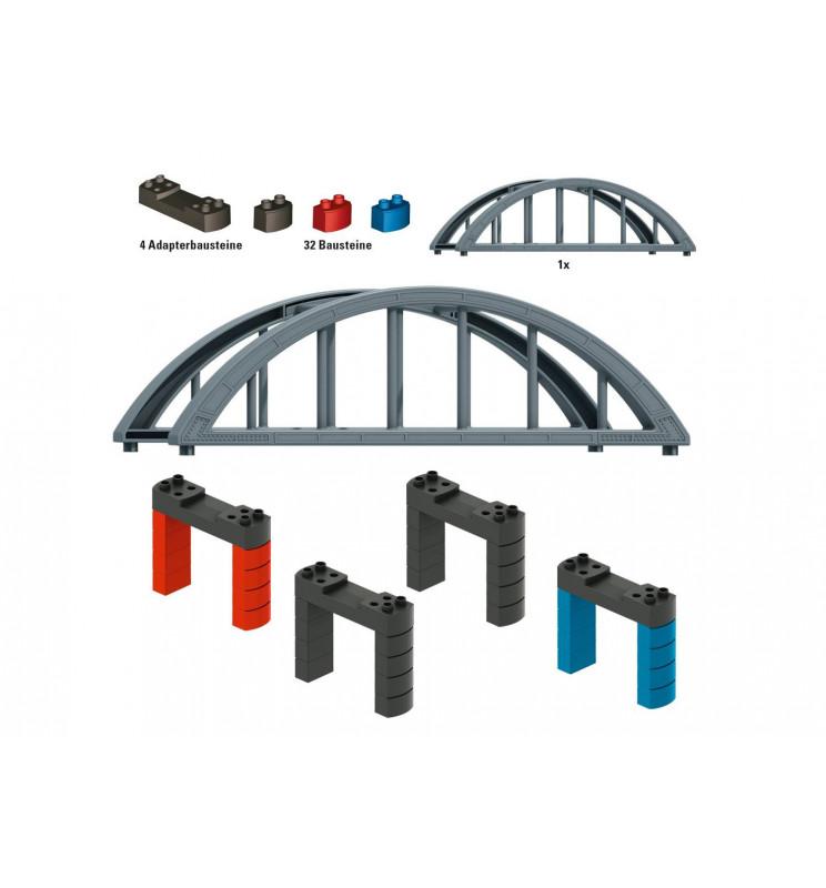 Marklin 072218 - Märklin my world - Elevated Railroad Bridge Building Block Set
