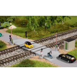 Auhagen 44649 - Przejazd kolejowy ze szlabanem, skala N