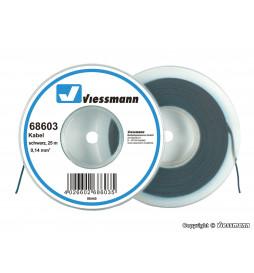 Viessmann 68603 - 25 m kabel, 0,14 mm?, czarny