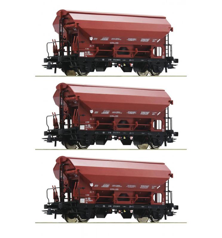 Roco 76179 - Zestaw 3 wagonów samowyładowczych SNCB