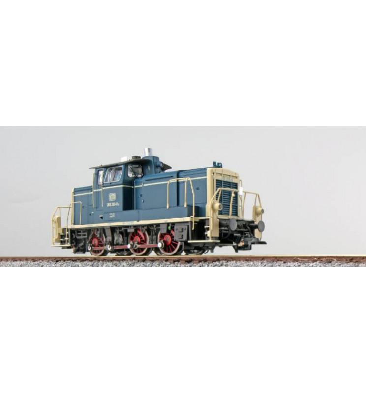 ESU 31411 - Lok. spalinowa BR 260 269, DB, Ep IV, nieb.-beżowa, LokSnd 5.0, Generator dymu, elektr. sprzęgi, Skala H0, DC/AC