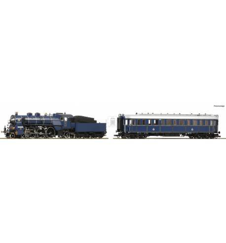 """Roco 61471 - 2 piece set: Steam locomotive S 3/6 and """"Prinzregenten"""" wagon"""