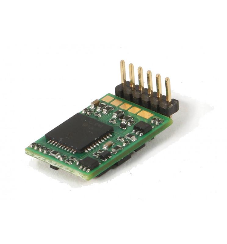 Roco 10887 - Dekoder jazdy i oświetlenia 6-pin z wtykiem bezpośrednim kątowym