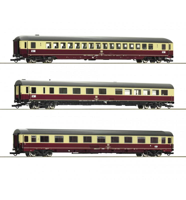 Roco 74123 - Zestaw 3 wagonów pociągu TEE 26/27 Erasmus, DB (zestaw 2)