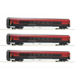 Roco 64191 - Zestaw wagonów Railjet ÖBB (3 elementy)