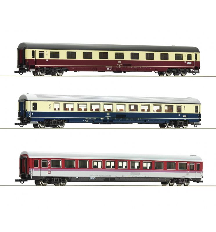 Roco 74133 - Zestaw 3 wagonów pociągu EC Leonardo da Vinci (zestaw 1)