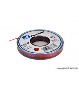 Viessmann 68633 - Kabel o długości 25 m, 0,14 mm kwadratowych, czerwony