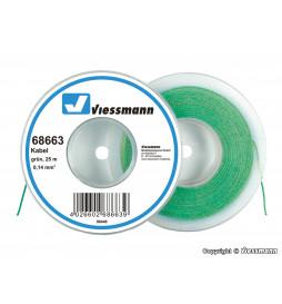 Viessmann 68663 - Przewód 25 m, 0,14 mm kwadratowych, zielony