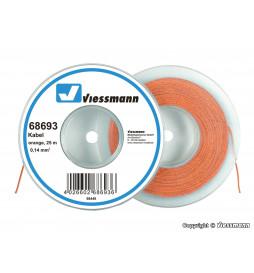 Viessmann 68693 - Przewodów 25 m, placu 0,14 mm, pomarańczowy