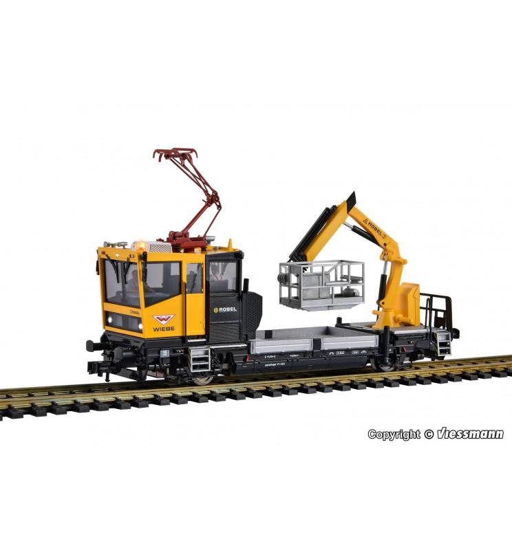 Viessmann 2618 - H0 Drezyna ROBEL 54.22 DCC z napędem, oświetleniem, ruchomym koszem, pantografem i dźwiękiem