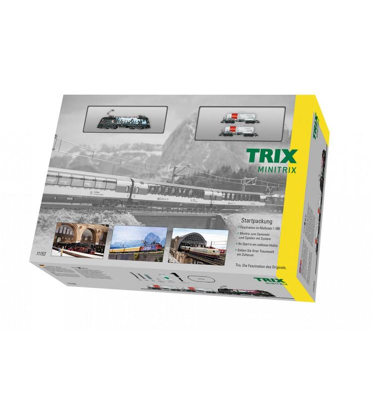 Trix 11153 - Zestaw Startowy Pociąg Towarowy, analog w skali N