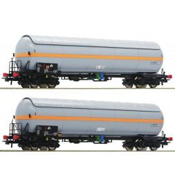 Roco 76073 - 2 piece set: Pressure gas tank wagons Nacco