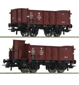 Roco 76069 - Zestaw 2 wagonów węglarek PKP, ep. III