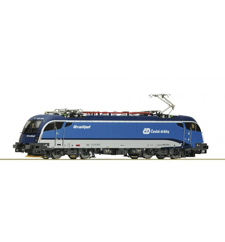 Roco 73219 - Lokomotywa elektryczna serii 1216 Railjet CD, DCC z dźwiękiem