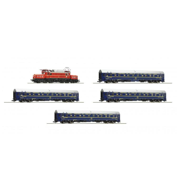 Roco 61469 - Cyfrowy zestaw pociągu Orient Express z lokomotywą OBB 1020 (Krokodyl) oraz 4 wagony sypialne, DCC z dźwiękiem