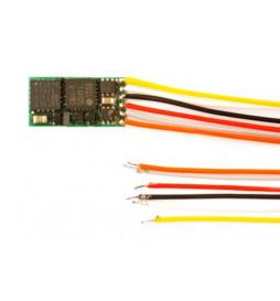 Miniaturowy dekoder DCC jazdy i oświeltenia D&H DH05C-3 6-przewodów