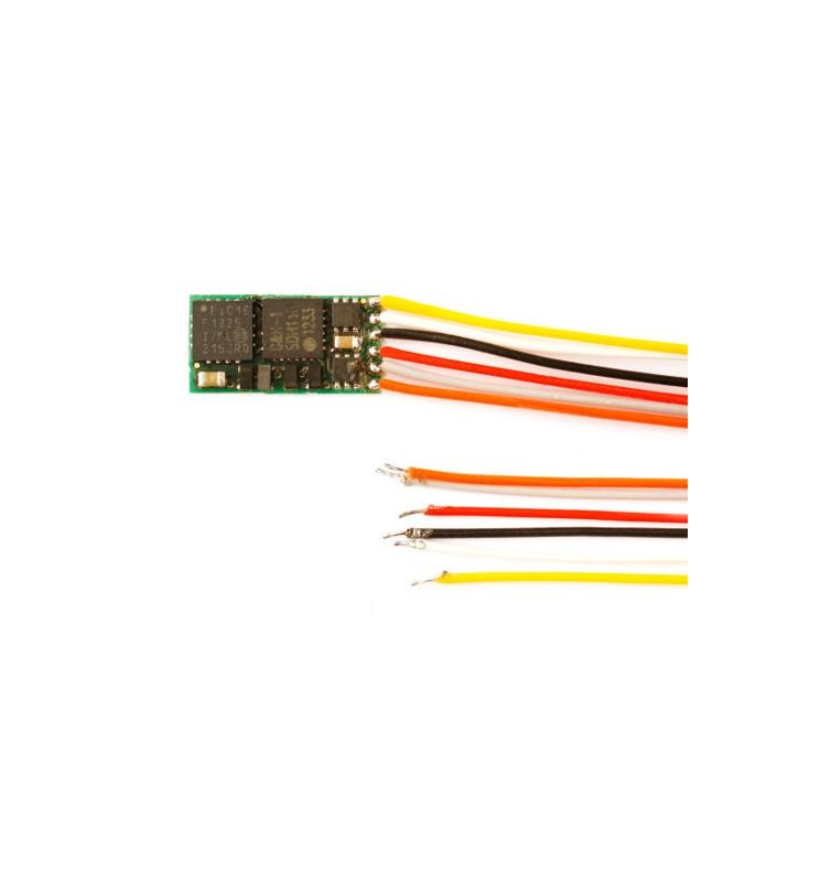Miniaturowy dekoder DCC jazdy i oświeltenia D&H DH05-3 6-przewodów