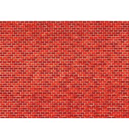 Auhagen 50104 - Dekorpappen Ziegelmauer rot