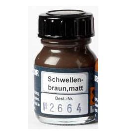 Weinert 2664 - Farba modelarska do malowania podkładów torowych, brunatno-czarna, matowa