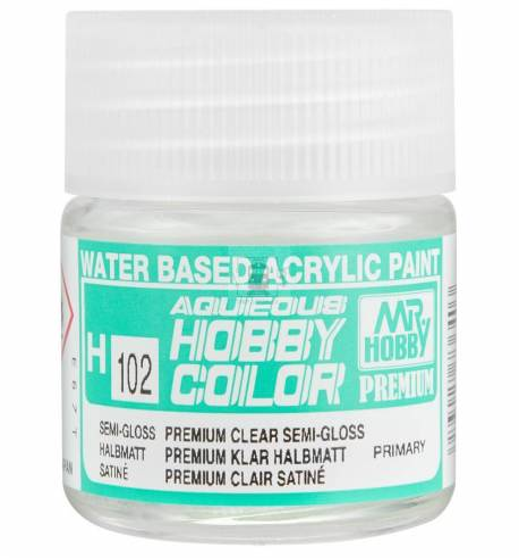 Mr.Hobby H102 - Farba Aqueous Hobby Color, Premium Clear Semi-Gloss