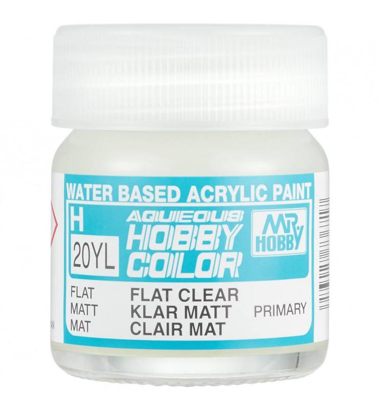 Mr.Hobby H020YL - Farba Aqueous Hobby Color, Flat Clear, duże opakowanie 40ml