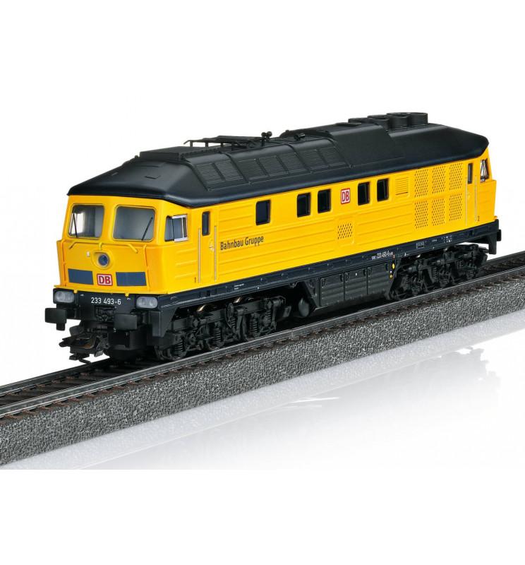 Trix 22402 - Lokomotywa spalinowa Ludmiła BR232 DB w żółtym malowaniu z fabrycznym generatorem dymu