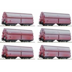 Roco 75938 - 12 piece display: Swing roof wagons DB-AG